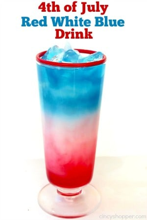 4th of July Red White Blue Drink 1