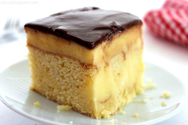 Boston Cream Pie Poke Cake From Scratch