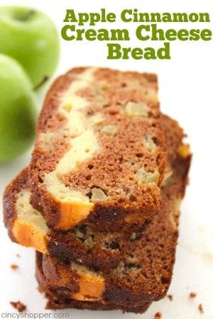 Apple Cinnamon Cream Cheese Bread 1