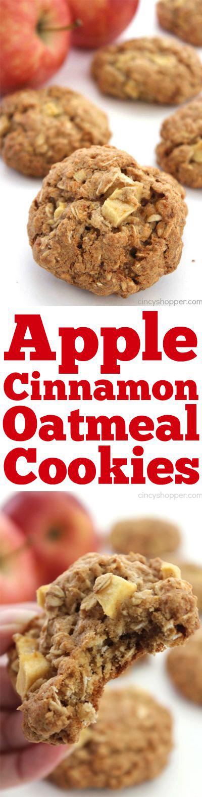 Apple Cinnamon Oatmeal Cookies - CincyShopper
