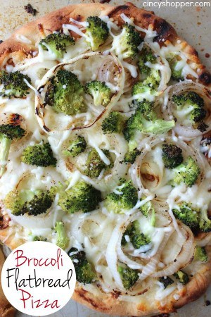 Broccoli Flatbread Pizza 1