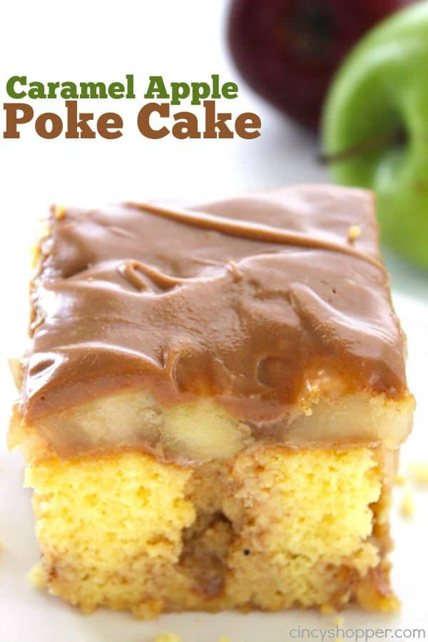 Caramel Apple Poke Cake 1