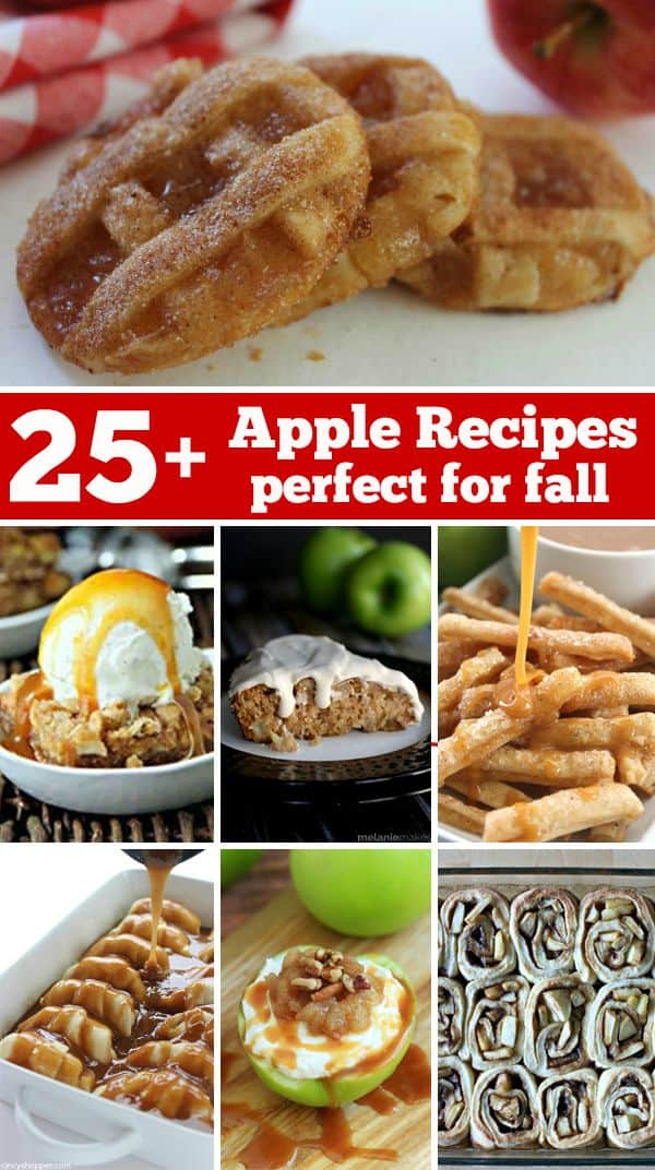 25+ Delicious Apple Recipes that are perfect for fall! Cakes, pies, cookies, dumplings and more!