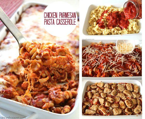 Chicken Parmesan Pasta Casserole FB