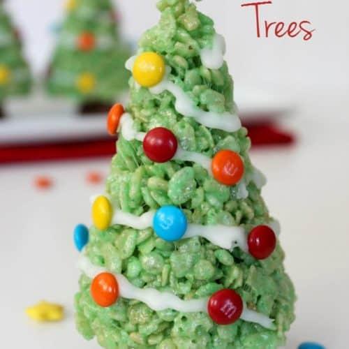 Christmas Tree Food.Krispie Treat Christmas Trees