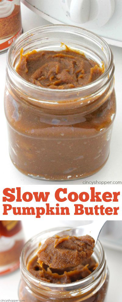 Slow Cooker Pumpkin Butter- Add to your toast, muffins, and use it in some additional fall recipes for added flavor. So much better than store bought.