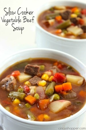 Slow Cooker Vegetable Beef Soup 1