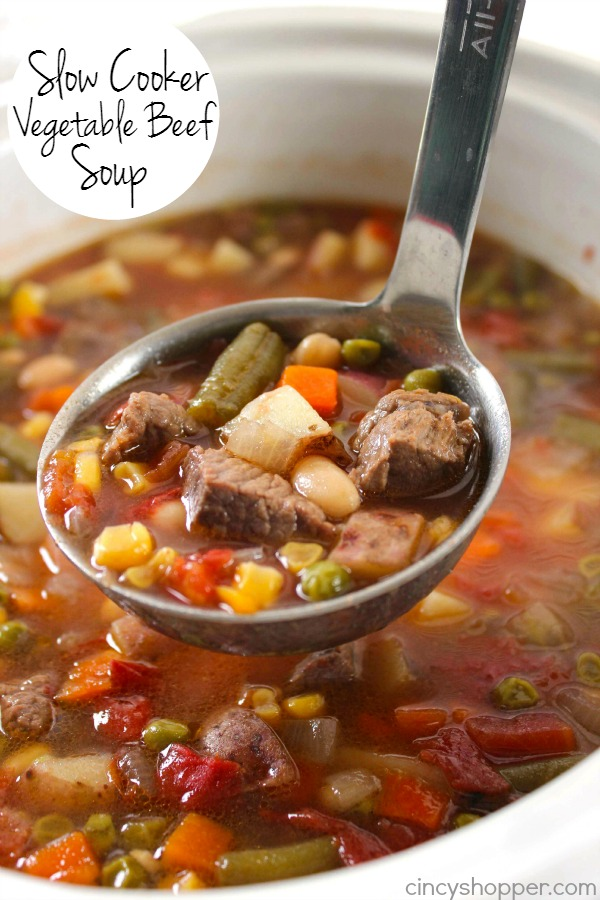 Slow Cooker Vegetable Beef Soup 2