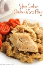 Easy Slow Cooker Chicken and Stuffing 1