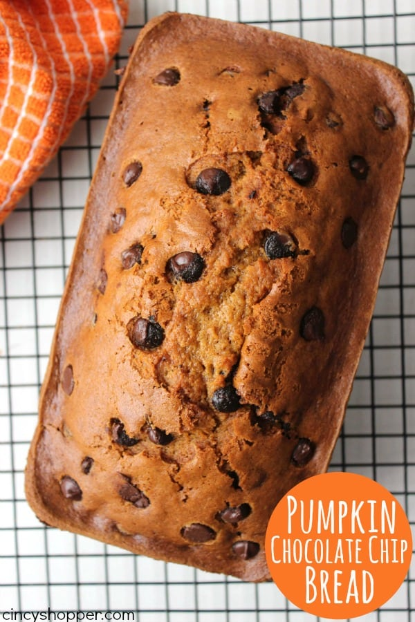 Pumpkin Chocolate Chip Bread - perfect fall breakfast or dessert. You ...