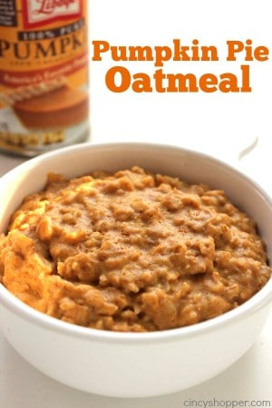 Pumpkin Pie Oatmeal 1