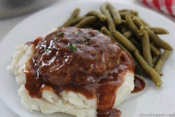 Simple Salisbury Steak on a a plate