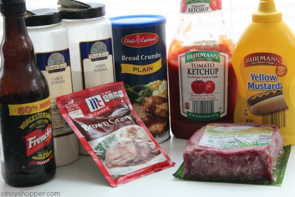 Ingredients for Salisbury Steak with gravy