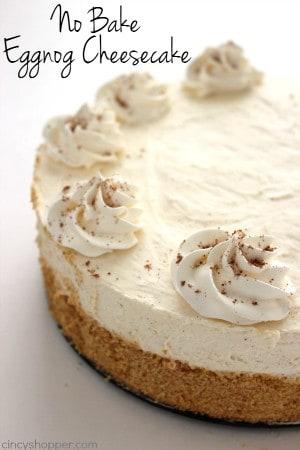 No Bake Eggnog Cheesecake 1