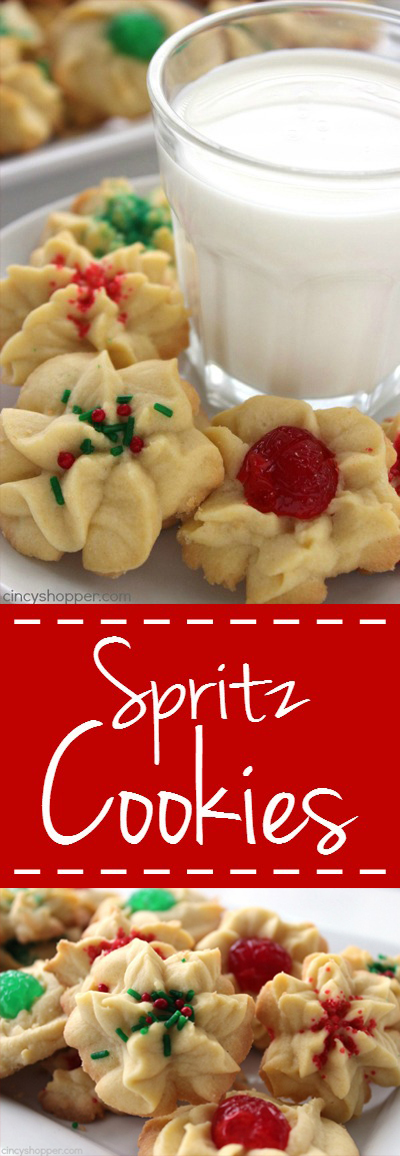 Traditional Spritz Cookies - a traditional Christmas cookie that is so easy with NO Cookie Press needed .Perfect for a cookie exchange.