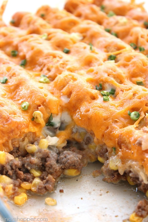 Tater Tot Breakfast Casserole With Cream Of Mushroom Soup