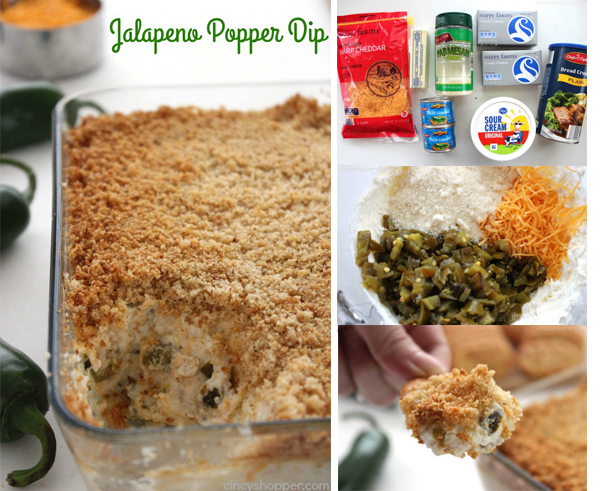Jalapeno Popper Dip - A hot dip with all the flavors you find in those cream cheese filled jalapeño poppers that are so darn tasty