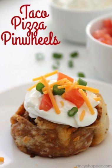 Taco Pizza Pinwheels