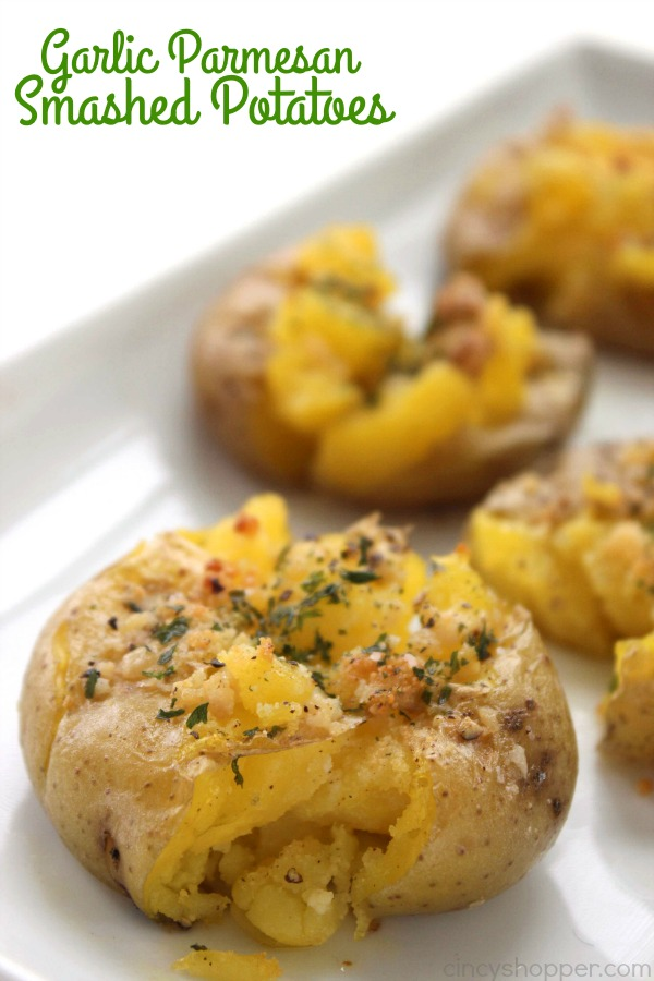 Garlic Parmesan Smashed Potatoes - loaded with awesome flavors and ...