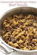 Homemade Hamburger Helper Beef Noodle