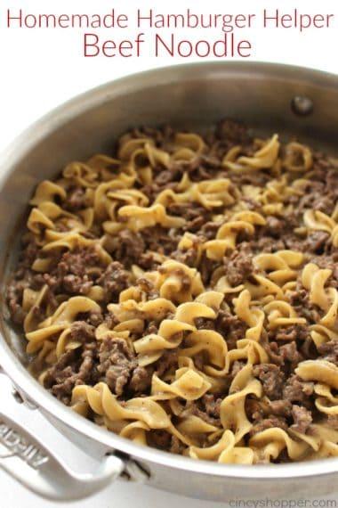 Homemade Hamburger Helper Beef Noodle