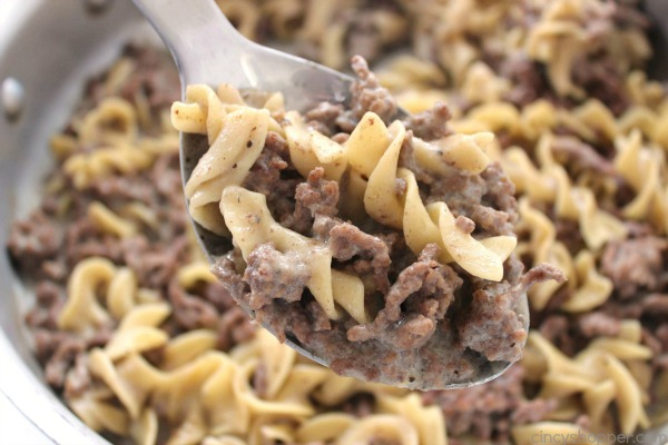 Homemade Hamburger Helper Beef Noodle - With a few simple ingredients and a few minutes time