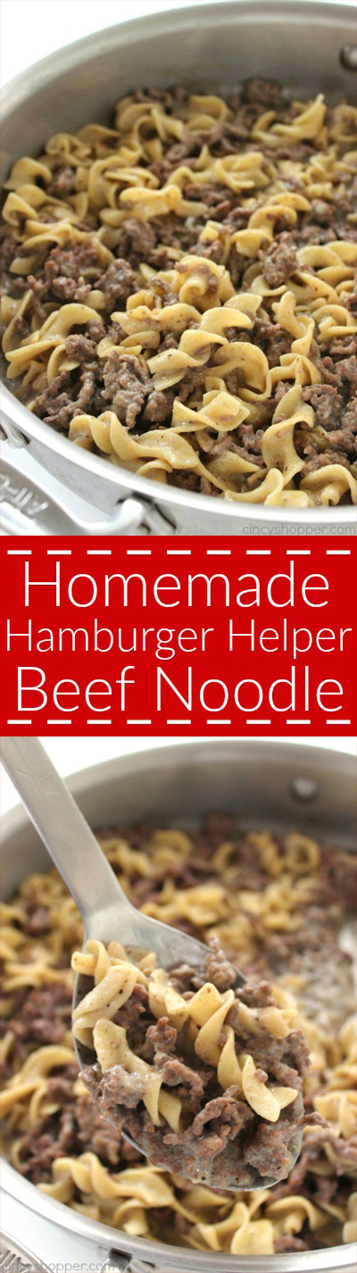 Homemade Hamburger Helper Beef Noodle Cincyshopper