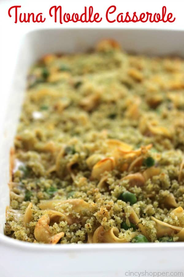 Tuna Noodle Casserole - makes for a quick and inexpensive comforting family meal.