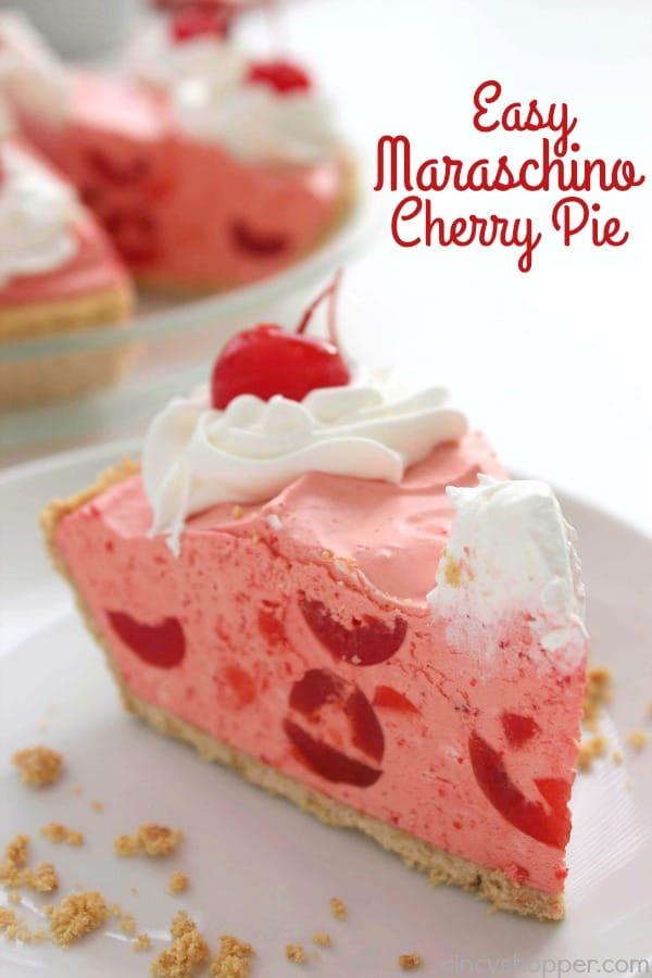 Easy Maraschino Cherry Pie 1