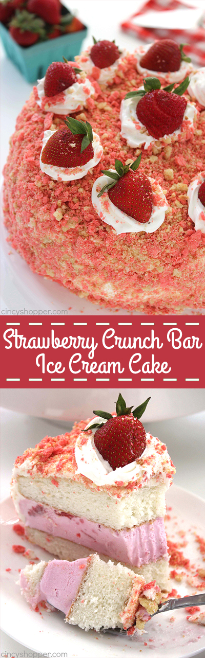 Strawberry Crunch Bar Ice Cream Cake Cincyshopper