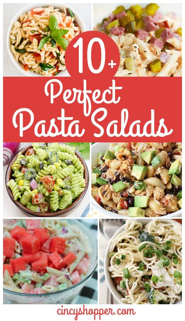 10+ Perfect Pasta Salads - Perfect for summer bbq's, picnics and potlucks.