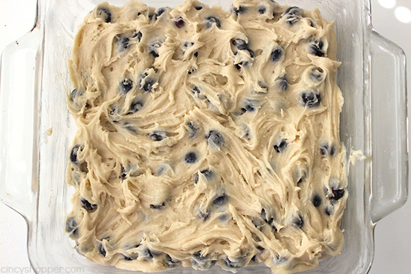 Blueberry Buckle - perfect for breakfast, snack, or dessert.. Plump blueberries meet up with a coffee muffin type cake then topped with a cinnamon and butter streusel.