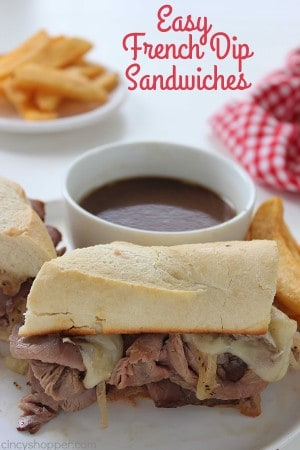 Easy French Dip Sandwiches 1