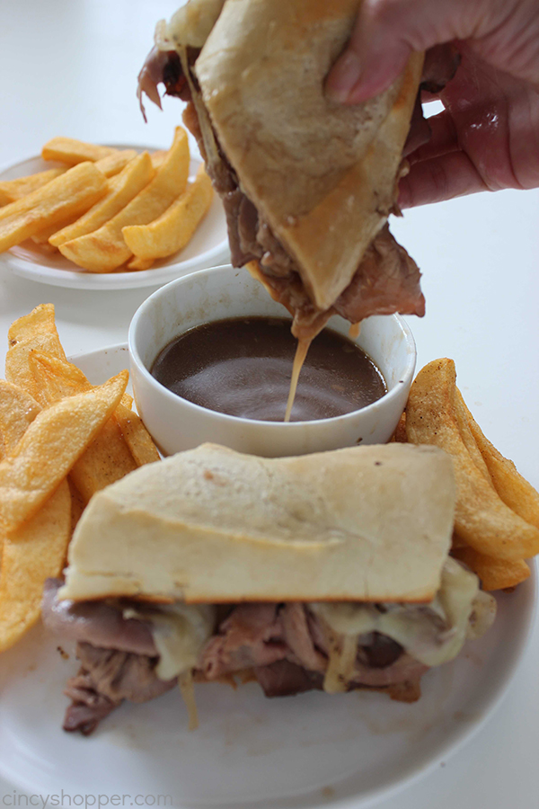 Easy french dip sandwiches cincyshopper easy french dip sandwiches perfect quick family dinner store bought deli roast beef forumfinder Images