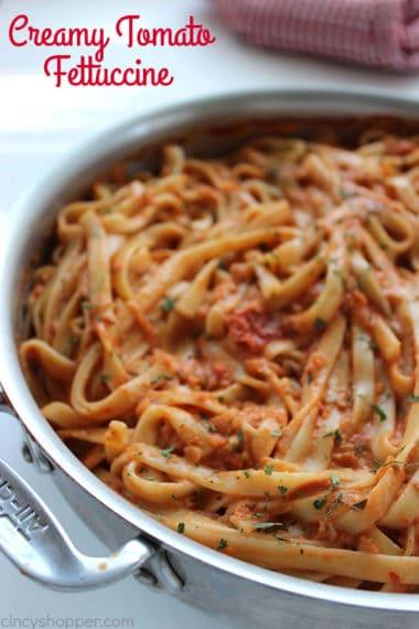 Creamy Tomato Fettuccine