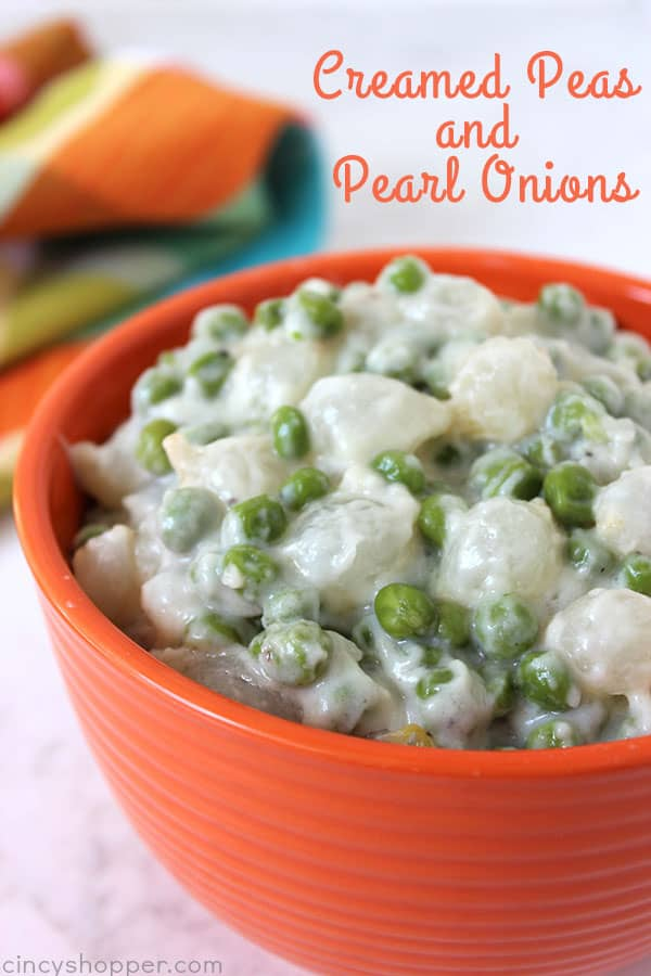 Creamed Peas and Pearl Onions will make for a wonderful Thanksgiving, Christmas, or any day vegetable side dish. A classic recipe that is so easy to make.