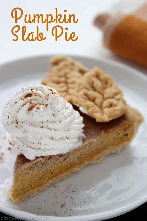 Feeding a crowd is so easy with this Pumpkin Slab Pie. You will find it easy to make and perfect for the upcoming holiday season.