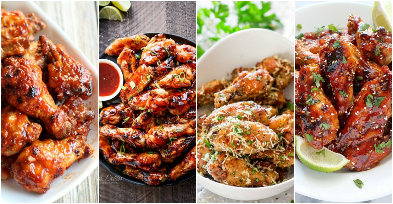 36 + Chicken Wings For Game Day- We have baked and fried. We have sweet, spicy, citrus, hot, mild, tons of different flavors for you to consider serving up.
