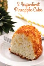 2 Ingredient Pineapple Cake