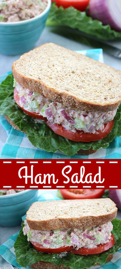 Ham Salad - a great use for your leftover Holiday ham. Perfect for making sandwiches or wraps.