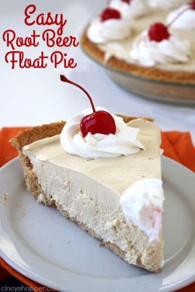 Easy Root Beer Float Pie