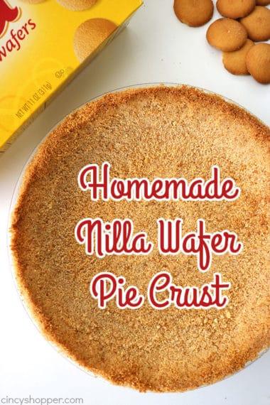 Homemade Nilla Wafer Pie Crust