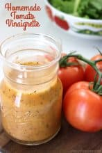 Homemade Tomato Vinaigrette