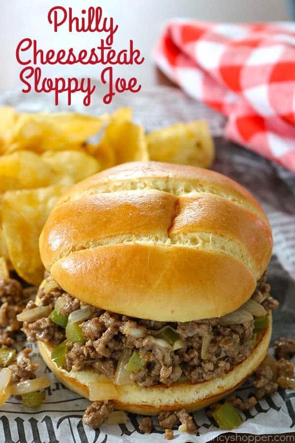 Philly Cheesesteak Sloppy Joe