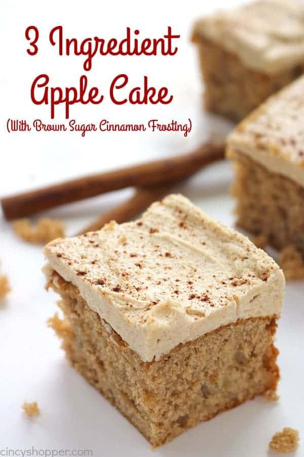 3 Ingredient Apple Cake