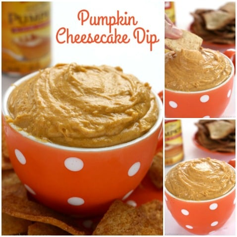 This super tasty Pumpkin Cheesecake Dip is going to be your new favorite fall appetizer. It's perfect for an after school snack too. Great use for your leftover canned pumpkin
