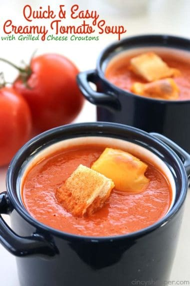 Quick & Easy Creamy Tomato Soup