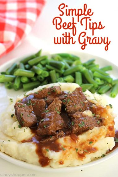 Simple Beef Tips with Gravy