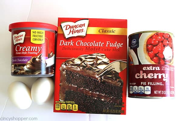 You Will Need A Chocolate Cake Mix Canned Cherry Pie Filling 2 Eggs And Can Of Duncan Hines Creamy Home Style Frosting Have This Delicious