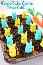 Peeps Easter Garden Poke Cake
